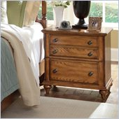 Broyhill Hayden Place 2 Drawer Night Stand in Warm Golden Oak