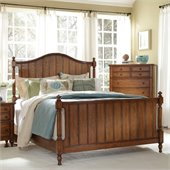 Broyhill Hayden Place Panel Bed in Warm Golden Oak