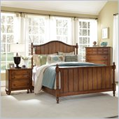 Broyhill Hayden Place Panel Bed 2 Piece Bedroom Set in Oak