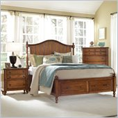 Broyhill Hayden Place Panel Storage Bed 2 Piece Bedroom Set in Oak