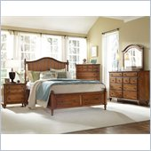 Broyhill Hayden Place Panel Storage Bed 5 Piece Bedroom Set in Oak