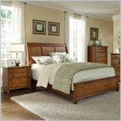 Broyhill Hayden Place Sleigh Bed 3 Piece Bedroom Set in Oak