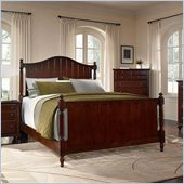 Broyhill Hayden Place Panel Bed in Rich Dark Cherry