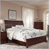 Broyhill Hayden Place Sleigh Bed in Rich Dark Cherry