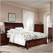 Broyhill Hayden Place Panel Storage Bed in Rich Dark Cherry