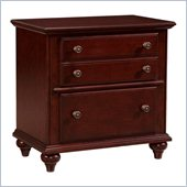 Broyhill Hayden Place 2 Drawer Night Stand in Rich Dark Cherry