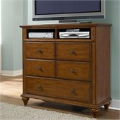 Broyhill Hayden Place 3 Drawer Media Chest in Light Cherry