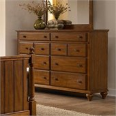 Broyhill Hayden Place 8 Drawer Dresser in Light Cherry