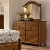 Broyhill Hayden Place Arched Dresser Mirror in Light Cherry