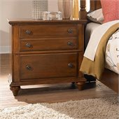 Broyhill Hayden Place 2 Drawer Night Stand in Light Cherry