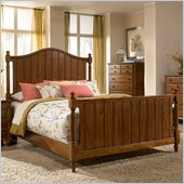 Broyhill Hayden Place Panel Bed in Light Cherry