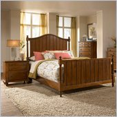 Broyhill Hayden Place Panel Bed 2 Piece Bedroom Set in Light Cherry