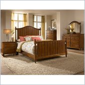 Broyhill Hayden Place Panel Bed 5 Piece Bedroom Set in Light Cherry