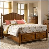 Broyhill Hayden Place Panel Storage Bed in Light Cherry