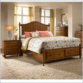 Broyhill Hayden Place Storage Bed 2 Piece Bedroom Set in Light Cherry