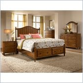 Broyhill Hayden Place Storage Bed 5 Piece Bedroom Set in Light Cherry