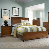 Broyhill Hayden Place Sleigh Bed 2 Piece Bedroom Set in Light Cherry