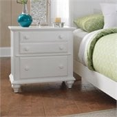 Broyhill Hayden Place 2 Drawer Night Stand in White