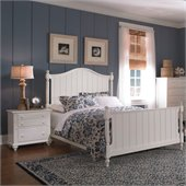 Broyhill Hayden Place Panel Bed 2 Piece Bedroom Set in White