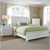 Broyhill Hayden Place Sleigh Bed 2 Piece Bedroom Set in White