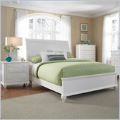 Broyhill Hayden Place Sleigh Bed 3 Piece Bedroom Set in White