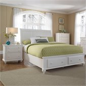 Broyhill Hayden Place Panel Storage Bed 3 Pc Bedroom Set in White