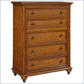 Broyhill Samana Cove 5 Drawer Chest in Natural Amber