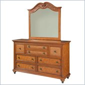 Broyhill Samana Cove 8 Drawer Dresser w/ Mirror Set in Natural Amber