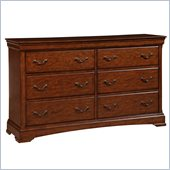 Broyhill Rhone Manor 6 Drawer Dresser in Toffee
