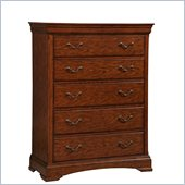 Broyhill Rhone Manor 5 Drawer Chest in Toffee