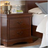 Broyhill Rhone Manor 2 Drawer Night Stand in Toffee