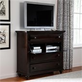 Broyhill Farnsworth Media Chest in Inky Black Stain