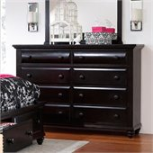 Broyhill Farnsworth 8 Drawer Dresser in Inky Black Stain