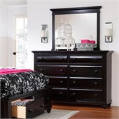 Broyhill Farnsworth Landscape Dresser Mirror in Inky Black Stain
