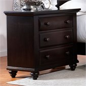 Broyhill Farnsworth 3 Drawer Night Stand in Inky Black Stain