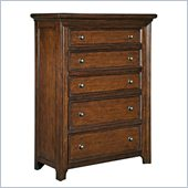 Broyhill Abbott Bay 5 Drawer Chest in Warm Russet Brown