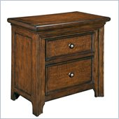 Broyhill Abbott Bay 2 Drawer Night Stand in Warm Russet Brown
