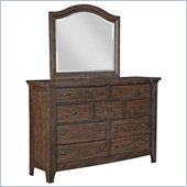 Broyhill Attic Retreat Arched Dresser Mirror in Weathered-Mink