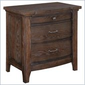 Broyhill Attic Retreat 3 Drawer Night Stand in Weathered-Mink