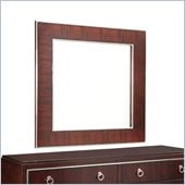 Broyhill Pinstripe Square Dresser Mirror in Dark Mahogany