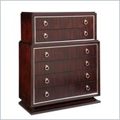 Broyhill Pinstripe 6 Drawer Chest in Dark Mahogany