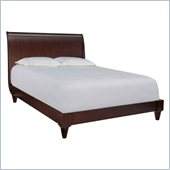 Broyhill Pinstripe Low Profile Sleigh Bed in Dark Mahogany
