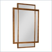 Broyhill Suede Dresser Mirror in Medium Brown