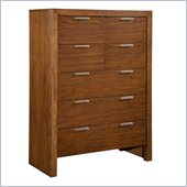 Broyhill Suede 7 Drawer Chest in Medium Brown