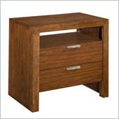 Broyhill Suede 2 Drawer Night Stand in Medium Brown