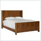 Broyhill Suede Panel Bed in Medium Brown