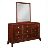 Broyhill Antiquity 9 Drawer Dresser with Mirror Set in Deep Velvet