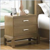 Broyhill Hampton 2 Drawer Night Stand in Light Mocha