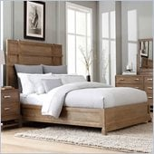 Broyhill Hampton Panel Bed in Light Mocha Stain