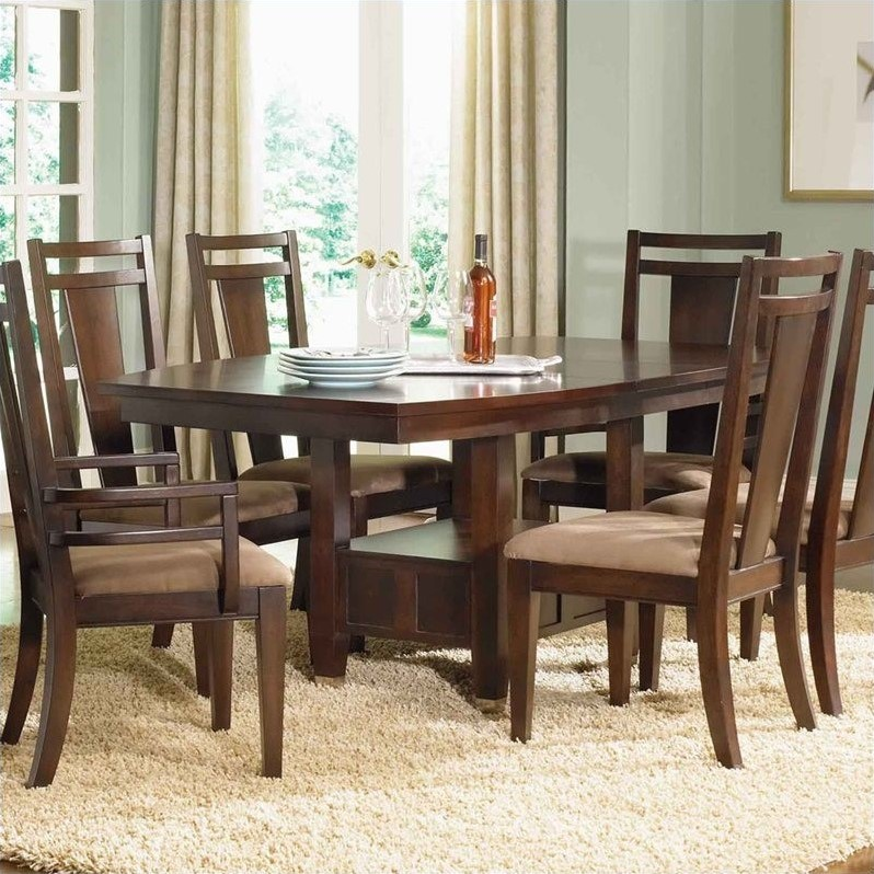 Broyhill Northern Lights Dining Table w/ Extension Legs in Dark Walnut 437194